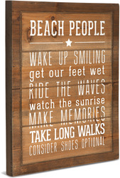 "Beach People Rules by We People - 12"" x 15"" Wood Sign"