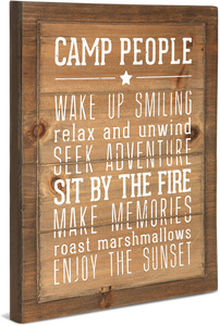 "Camp People Rules by We People - 12"" x 15"" Wood Sign"