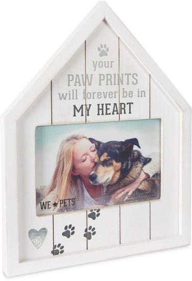 "Paw Prints by We Pets - Paw Prints - 8"" x 10.5"" Frame (Holds 6"" x 4"" Photo)"