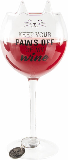 Paws Off by We Pets - Paws Off - 14 oz Cat Wine Glass