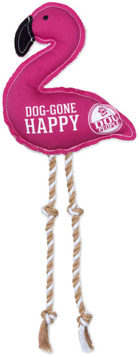 "Happy by We Pets - Happy - 14.75"" Canvas Dog Toy on Rope"