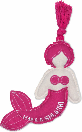"Splash by We Pets - Splash - 8.5"" Canvas Dog Toy on Rope"