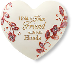 "True Friend by Heart Expressions - 2.5"" Inspirational Heart"