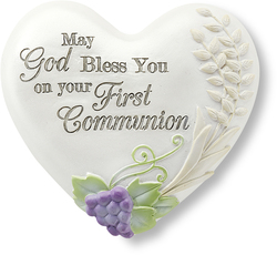 "First Communion by Heart Expressions - 2.5"" Inspirational Heart"