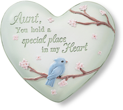 "Aunt by Heart Expressions - 2.5"" Inspirational Heart"