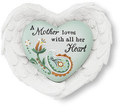 "Mother by Heart Expressions - 3""x3.5"" Heart/Wing Gift Set"
