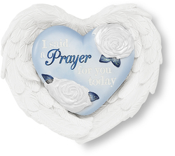 "Prayer by Heart Expressions - 3""x3.5"" Heart/Wing Gift Set"