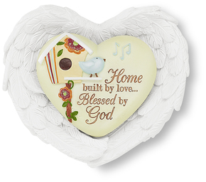 "Home by Heart Expressions - 3""x3.5"" Heart/Wing Gift Set"