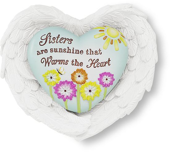 Sister by Heart Expressions - Heart Expressions is a line of heart tokens with kind messages, feather shaped heart holders (some musical) and bird nest holders. Designed by Pavilion Gift Company.