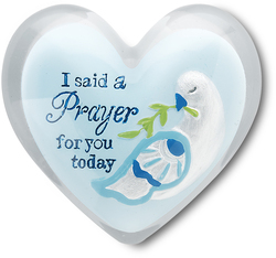 "Prayer by Heart Expressions - 1.5"" Heart Token"