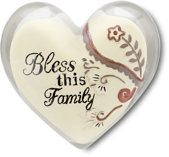 "Bless this Family by Heart Expressions - Bless this Family - 1.5"" Heart Token"