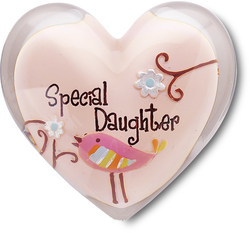"Daughter by Heart Expressions - 1.5"" Heart Token"