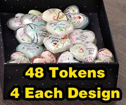 Heart Expressions Tokens by Heart Expressions - Includes 48 tokens, 4 each