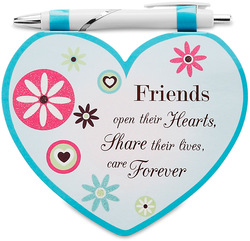"Friends by Heart Expressions - 4.75""x4"" Notepad w/Pen"
