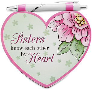 "Sister by Heart Expressions - 4.75""x4"" Notepad w/Pen"