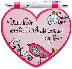 "Daughter by Heart Expressions - 4.75""x4"" Notepad w/Pen"