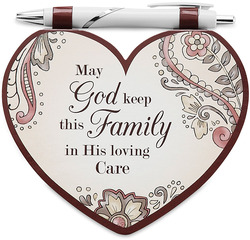 "Family by Heart Expressions - 4.75""x4"" Notepad w/Pen"