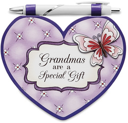 "Grandma by Heart Expressions - 4.75""x4"" Notepad w/Pen"