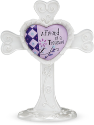 "Friends by Heart Expressions - 4"" Self Standing Cross"