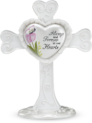 "Sympathy by Heart Expressions - 4"" Self Standing Cross"