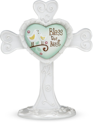 "Bless this Nest by Heart Expressions - 4"" Self Standing Cross"