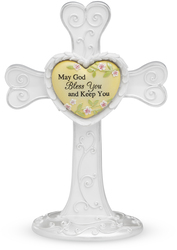 "God Bless You by Heart Expressions - 7"" Self Standing Cross"