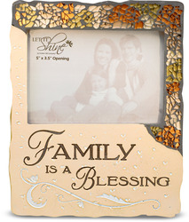 "Family is a Blessing by Let it Shine - 6"" x 7"" Mosaic Photo Frame"