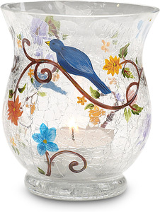 "Nature's Whisper by We Love - 3.5"" x 3""Glass Candle Holder"