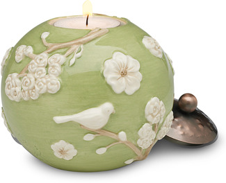 "Sage Green by We Love - 3.75"" Round Candle Holder"