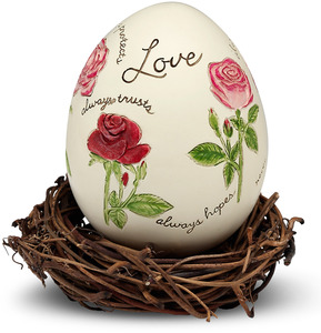 "Love by We Love - 2.5"" Egg with Rattan Nest"