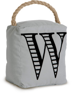 "W by Open Door Decor - 5"" x 6"" Gray Door Stopper"
