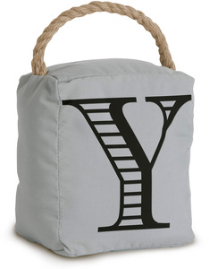 "Y by Open Door Decor - 5"" x 6"" Gray Door Stopper"