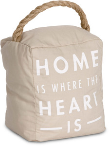 "Home  by Open Door Decor - 5"" x 6"" Tan Door Stopper"