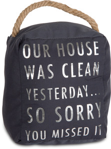 "Clean House by Open Door Decor - 5"" x 6"" Door Stopper"
