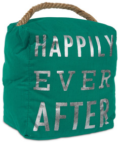 "Happily Ever After by Open Door Decor - 5"" x 6"" Door Stopper"