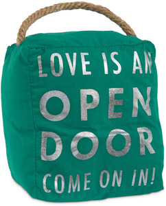 "Love is an Open Door by Open Door Decor - 5"" x 6"" Door Stopper"