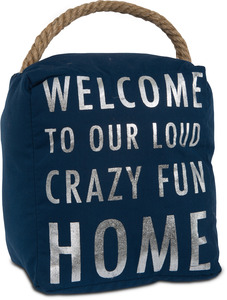 "Crazy Fun Home by Open Door Decor - 5"" x 6"" Door Stopper"