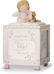 "Littlest Things by Cutie Patootie - 6""H Keepsake Box/Photo Cube"