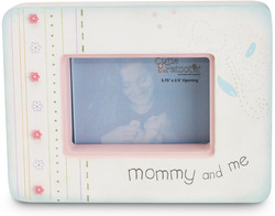 "Mommy & Me by Cutie Patootie - 7"" x 5.25"" Wood Photo Frame"