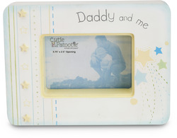 "Daddy & Me by Cutie Patootie - 7"" x 5.25"" Wood Photo Frame"