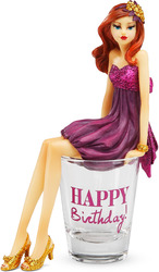 "Happy Birthday by Hiccup - 5.25"" Girl in Shot Glass"