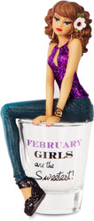 "February by Hiccup - 5.75"" Girl in Shot Glass"