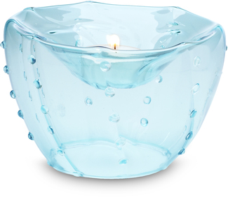 "Glass Tea Light Holder by See Dreams - 5"" x 3.5""  Tea Light Holder"