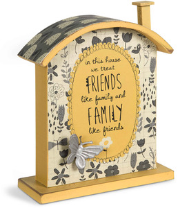 "Friends and Family by Bloom by Amylee Weeks - 7"" Butterfly House Plaque"