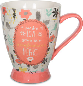 Grandmother by Bloom by Amylee Weeks - 18 oz Birds & Flowers Mug
