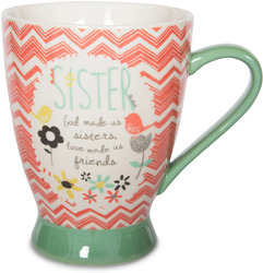 Sister by Bloom by Amylee Weeks - 18 oz Birds & Flowers Mug