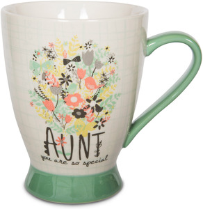 Aunt by Bloom by Amylee Weeks - 18 oz Bird & Flowers Mug