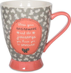 Retirement by Bloom by Amylee Weeks - 18 oz Butterfly Mug