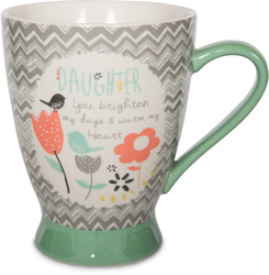 Daughter by Bloom by Amylee Weeks - 18 oz Birds & Flowers Mug