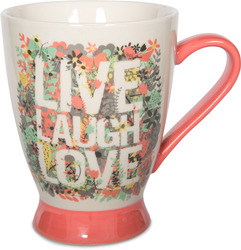 Live, Laugh, Love by Bloom by Amylee Weeks - 18 oz Butterfly & Flowers Mug